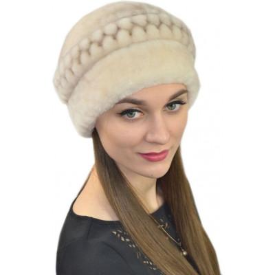 Женская шапка из мутона Б 078