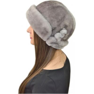 Женская шапка из мутона Б 076а