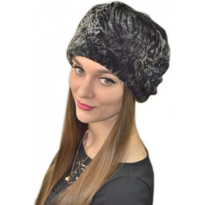 Женская шапка из мутона БМ 046