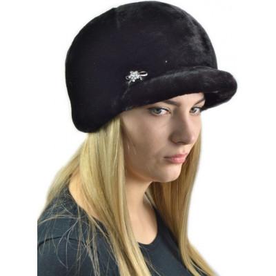 Женская кепка из мутона БМ 089а