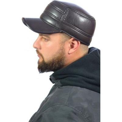 Кепка мужская из искусственной кожи ЕМ-07