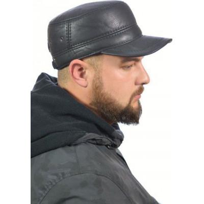 Кепка мужская из искусственной кожи ЕМ-08