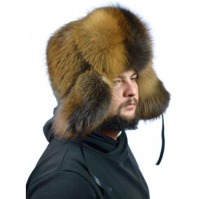 Мужская шапка из лисы ПМ-003а