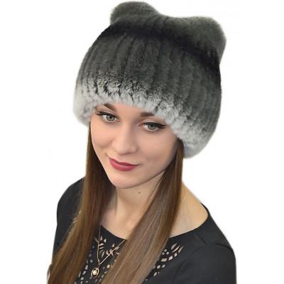 Женская шапка из кролика  БК 017