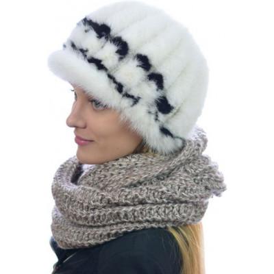 Шапка из вязаной норки НВ 073