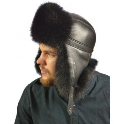 Мужская шапка из енота НЕ 045