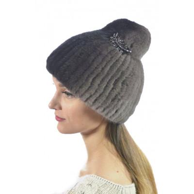 Модная норковая шапка НВ-101
