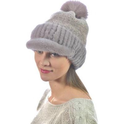 Модная норковая шапка НВ-099