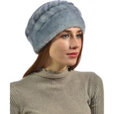 Женская мутоновая шапка БМ-016а