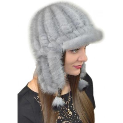 Женская шапка из норки НВ 080