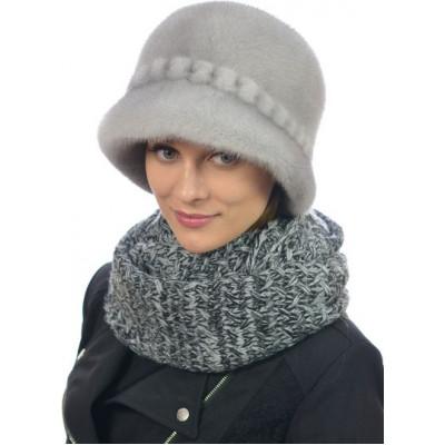Зимняя шляпка из финской норки премиум класса НН-081а