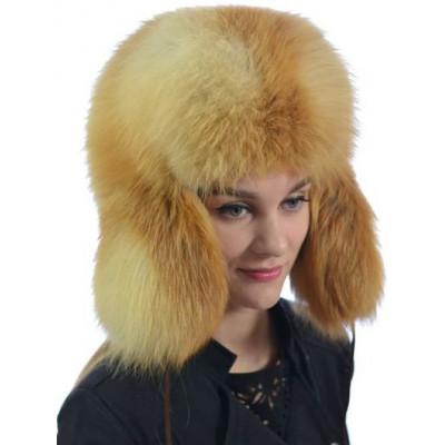 Лисья меховая шапка КА 066