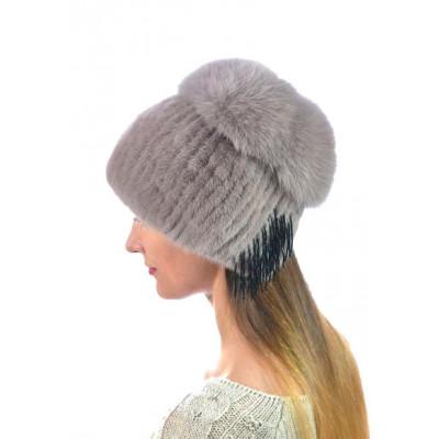 Женская норковая шапка НВ-102