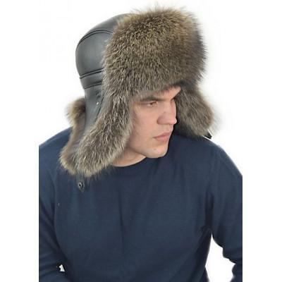 Мужская шапка из енота НЕ 043