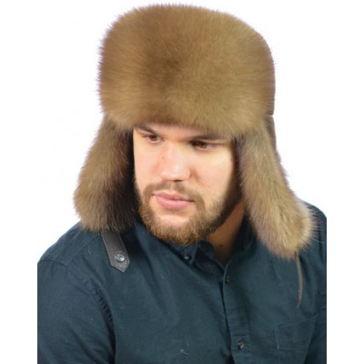 Мужская шапка из меха куницы ВК-090