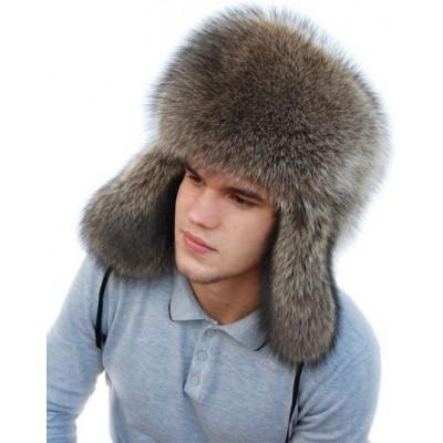 Мужская шапка ушанка из енота ВК 054