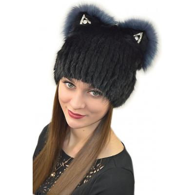 Женская меховая шапка КА 035