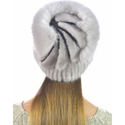 Модная норковая шапка НВ-097