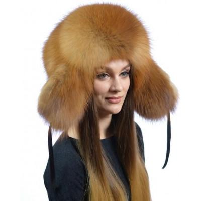 Лисья меховая шапка КА 073