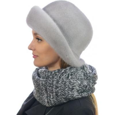 Голубая норковая шляпа НН-080а