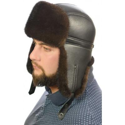 Мужская норковая шапка ШН 025а