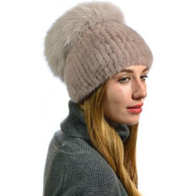 Женская меховая шапка НВ-112