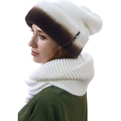 Комплект из снуда и вязаной шапки БК-003