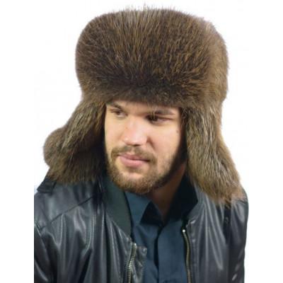 Мужская шапка зимушка из бобрового меха ВК-079а