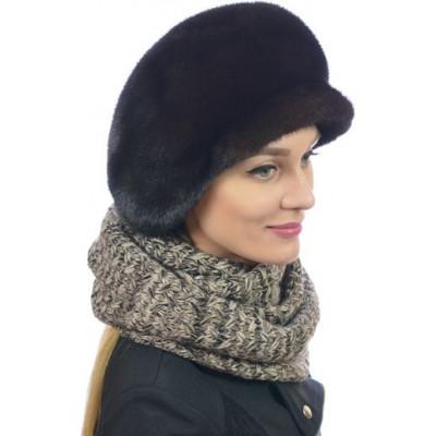Меховая кепка из норки.Купить женскую норковую кепку. НН-086