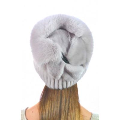 Модная норковая шапка НВ-097а