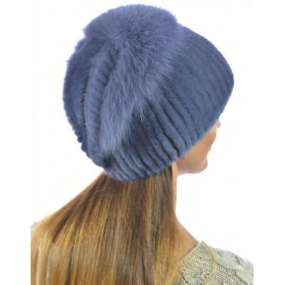 Модная норковая шапка НВ-098