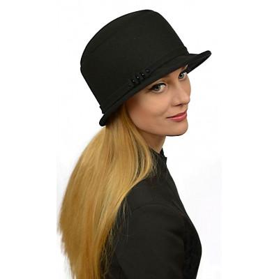 Женская черная шляпка ЖШ-023
