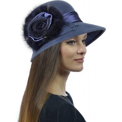 Шапка- шляпка из фетра ФТ-056