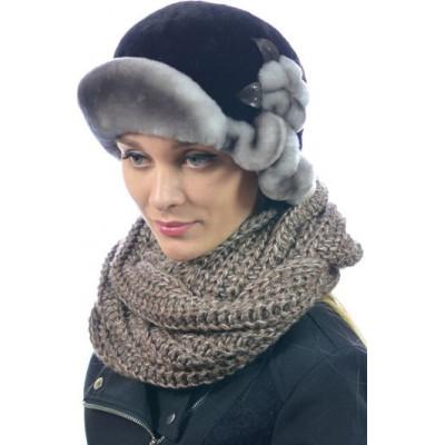 Женская меховая шапка БМ 032