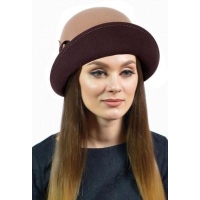 Шапка- шляпка из фетра ФТ-054