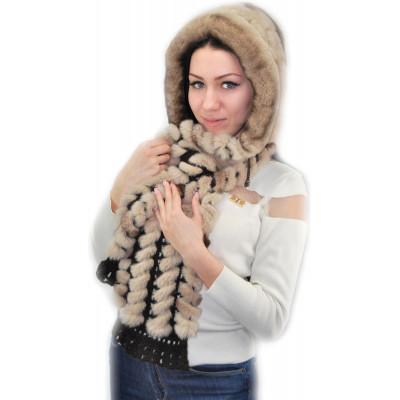 Меховая шапка капюшон БК 035Б