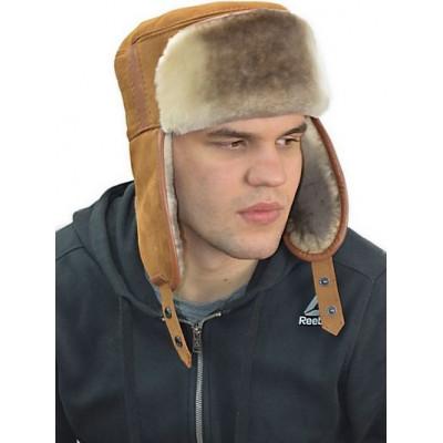 Мужская шапка из мутона  ВК 049