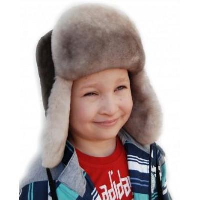 Меховая шапка для мальчиков ДМ 026а