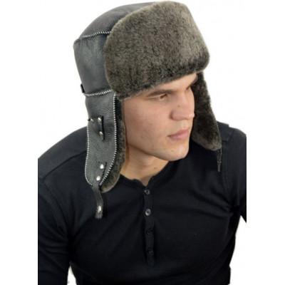 Мужская шапка из овчины МБ-029в