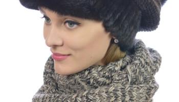 Женские меховые кепки
