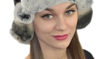 Женские шапки из кролика Рекс
